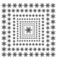 snowflakes on a white background beautiful winter vector image vector image