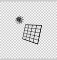 solar energy panel icon on transparent background vector image vector image