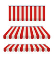 striped awning awning for the cafes and street vector image