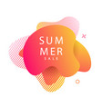 summer modern futuristic gradient banner vector image vector image