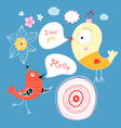 talking birds vector image vector image