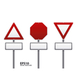 traffic sign red color vector image vector image