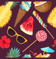 tropic summer pattern vector image