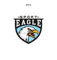 unique logo eagle head vector image vector image