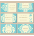 vintage cards blue vector image