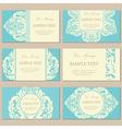vintage cards blue vector image vector image