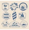 Vintage Outdoor Adventure Badges Logos Labels vector image