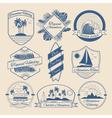 Vintage Outdoor Adventure Badges Logos Labels vector image vector image