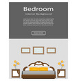website banner of graceful bedroom interior with vector image vector image