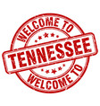 welcome to tennessee red round vintage stamp vector image vector image