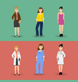 women are young doctors and these same women in vector image vector image
