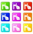 women shoe set 9 vector image vector image