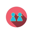 Young couple icon Male and female sign vector image vector image