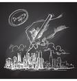 city background sketch vector image
