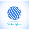 Abstract water sphere globe symbol vector image