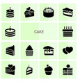 14 cake icons vector image vector image