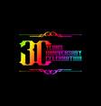 30th years anniversary logo template