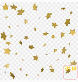 3d star falling print gold yellow starry on vector image vector image