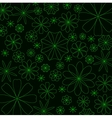 Abstract glowing flower background vector image