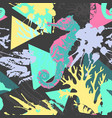 abstract summer seamless pattern in marine style vector image