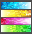 abstract vibrant colorful banner set vector image