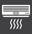 air conditioner solid icon electric and appliance vector image