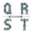 alphabet typography font cartoon robotic style in vector image vector image