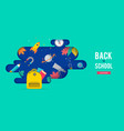 Back to school backpack with speech bubble and