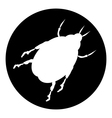 Beetle button vector image vector image