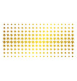 blot gold halftone pattern vector image