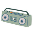 boombox magnetophone with handle and loudspeaker vector image vector image