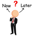 Businessman confused vector image vector image