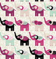 Cheerful seamless pattern elephants and flowers vector image vector image