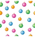 Christmas Tree Toys Seamless Pattern vector image