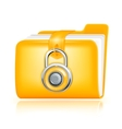 Closed folder icon vector image