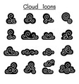 cloud decoration cloud abstract cloud icon set vector image