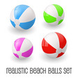 colorful realistic beach ball vector image vector image