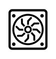 computer graphic card icon vector image