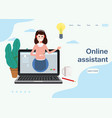 concept web page online assistant customer and vector image
