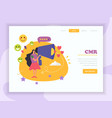 crm website landing page vector image vector image