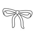 cute ribbon cartoon vector image vector image
