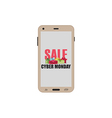 Cyber Monday sale smartphone with gift boxes vector image