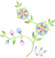 decor floral elements set vector image vector image