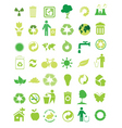 eco icons vector image