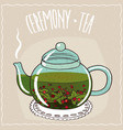 glass teapot with tea currant vector image