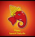 happy ganesh chaturthi festival greeting card vector image vector image