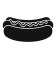 hot dog icon simple style vector image vector image