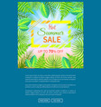 hot summer sale poster up to 70 off banner frame vector image