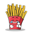 Joy face french fries cartoon character