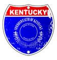 kentucky interstate sign vector image vector image